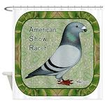 Show Racer Portrait Shower Curtain