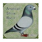 Show Racer Portrait Tile Coaster