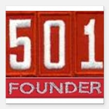 "Pack 501 Founder Image Square Car Magnet 3"" x 3"""