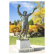 Statue of Rocky Balboa in a park, Philadelphia Mus