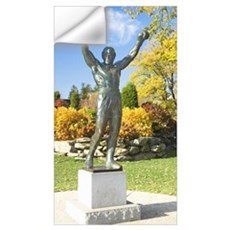 Statue of Rocky Balboa in a park, Philadelphia Mus Wall Decal