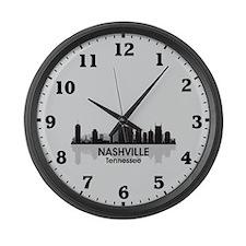 Nashville Skyline Large Wall Clock