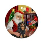 Santa & his Cavalier (BT) Ornament (Round)