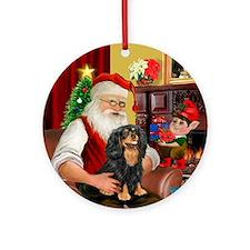 Santa & his Cavalier (BT) Ornament (Round)