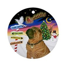 Xsigns-Chinese Shar Pei (j) Ornament (round)
