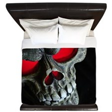 Red Eyed Skull King Duvet