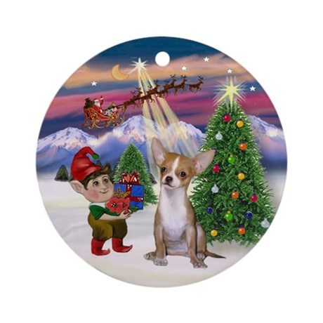 Take Off - Chihuahua (lt. red) Ornament (Round)