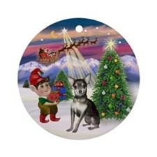 TakeOff - Chihuahua (bl-cream) Ornament (Round)