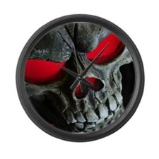 Red Eyed Skull Large Wall Clock