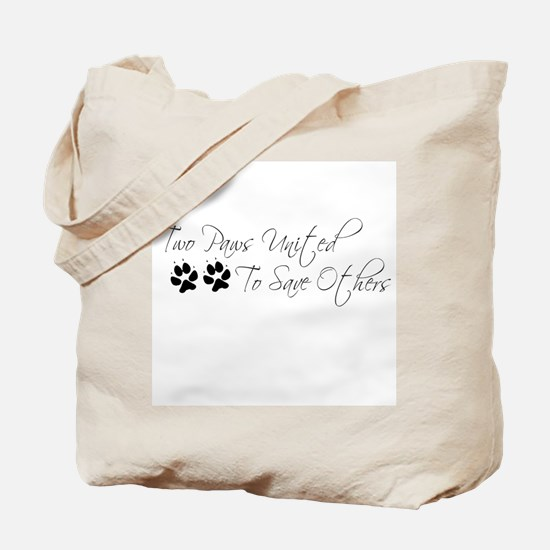 Two Paws Tote Bag