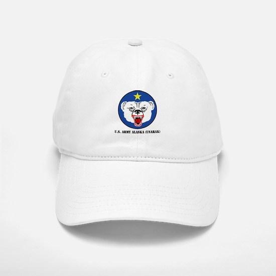 U.S. Army Alaska (USARAK) with Text Baseball Baseball Cap