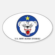 U.S. Army Alaska (USARAK) with Text Sticker (Oval)