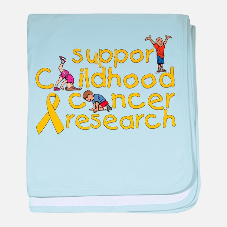 Support Childhood Cancer Research baby blanket