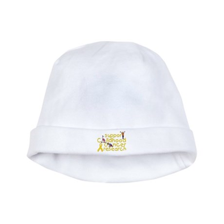 Support Childhood Cancer Research baby hat