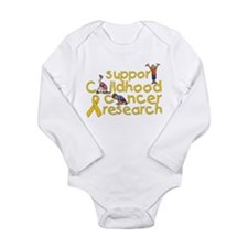 Support Childhood Cancer Research Long Sleeve Infa