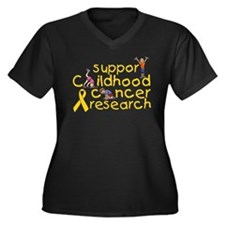 Support Childhood Cancer Research Women's Plus Siz