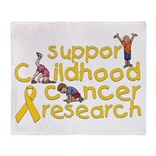 Support Childhood Cancer Research Throw Blanket