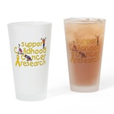 Support Childhood Cancer Research Drinking Glass