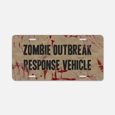 Zombie Outbreak Response Vehicle Aluminum License