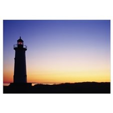Silhouette of a lighthouse, Edgartown, Marthas Vin