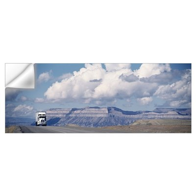 Truck on the road, Interstate 70, Green River, Uta Wall Decal