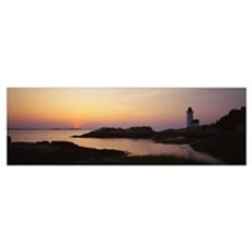 Lighthouse on the coast, Cape Ann, Gloucester, Mas Poster