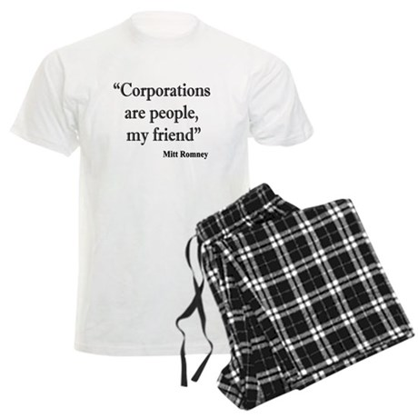 Romney: corporations are people Men's Light Pajama