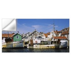 Fishing boats at a port, Smogen, Sotenas Municipal Wall Decal