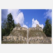 Old ruins of a temple, El Caracol, Cayo District,
