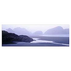 Panoramic view of the ocean, Pacific Ocean, Bandon Poster
