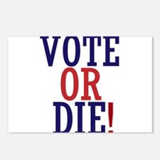 VOTE OR DIE Postcards (Package of 8)