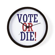 VOTE OR DIE Wall Clock