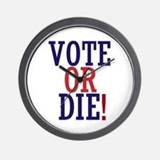VOTE OR DIE Wall Clock
