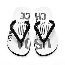 OYOOS USDA Choice Barcode design Flip Flops