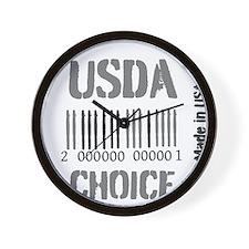 OYOOS USDA Choice Barcode design Wall Clock