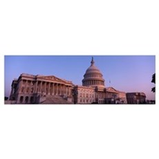 Low angle view of a government building, Capitol B Poster