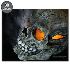 Orange Eyed Skull Puzzle