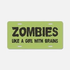 Zombies Aluminum License Plate