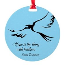 Feathered Hope (blue) Ornament