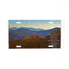 Amos 4:13 Aluminum License Plate