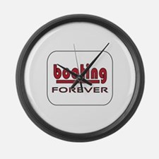 Boating Forever Large Wall Clock