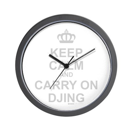 Keep Calm And Carry On DJing Wall Clock