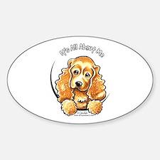 Cocker Spaniel IAAM Sticker (Oval)