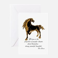 Strong powerful beautiful Greeting Card