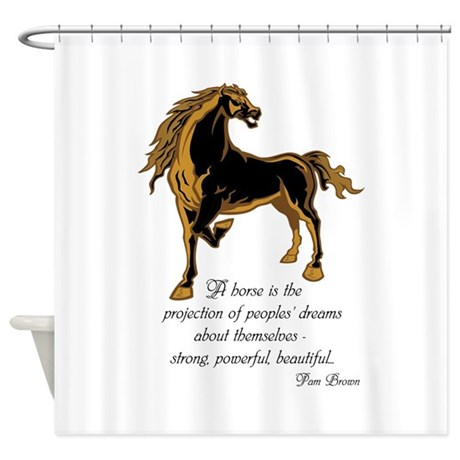 Strong powerful beautiful Shower Curtain