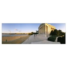 Monument at the riverside, Jefferson Memorial, Pot Framed Print