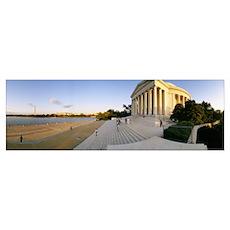 Monument at the riverside, Jefferson Memorial, Pot Poster