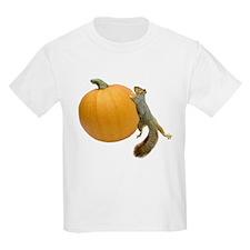 Squirrel Rolling Pumpkin T-Shirt