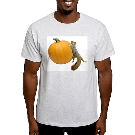 Squirrel Rolling Pumpkin Light T-Shirt