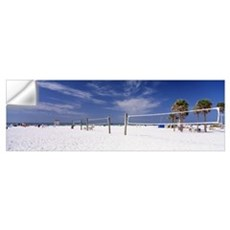 Volleyball nets on the beach, Siesta Beach, Siesta Wall Decal